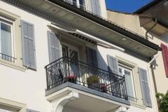 Balkon Sonnenschutz beim Denkmalschutz