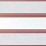 weiß + lichtgrau + braunrote Linien
