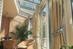 Raffstore Glasdachkonstruktion