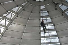 Verschattung Glaskuppel