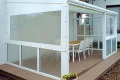 Folienfenster Drehknopfbefestigung