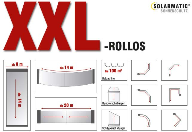 xxl gro e rollos bis 22m h he oder 36m l nge. Black Bedroom Furniture Sets. Home Design Ideas