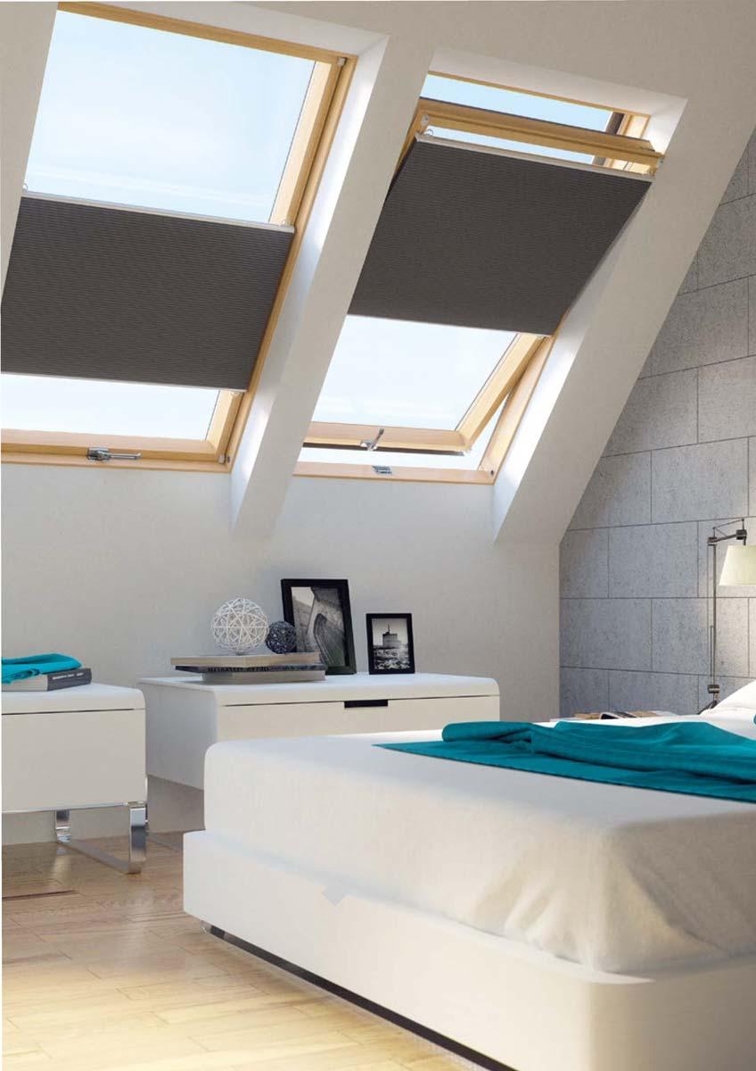 dachfenster rollo in jeder gr e oder schr gverglasung. Black Bedroom Furniture Sets. Home Design Ideas