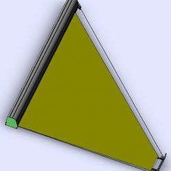 Seilzugrollo Trapezfenster 3.86