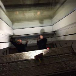 Gegenzuganlage mit Seil von unten