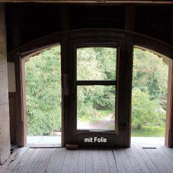 Baufolie für Rundfenster