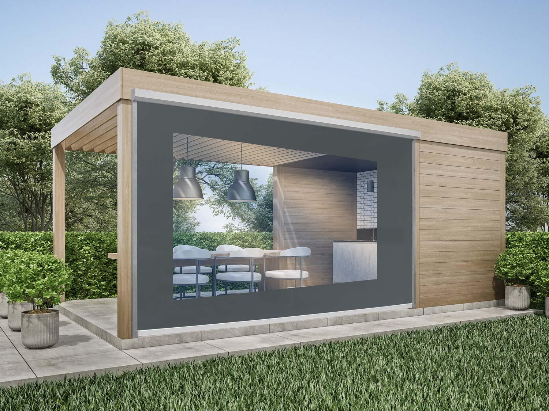 durchsichtige Wetterschutzrollos für Terrassen & Balkone zum ...