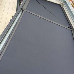 asymmetrischer Sonnenschutz horizontal