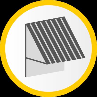 Fallarmmarkise mit Solar