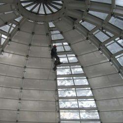 Sonnenschutz Glaskuppel