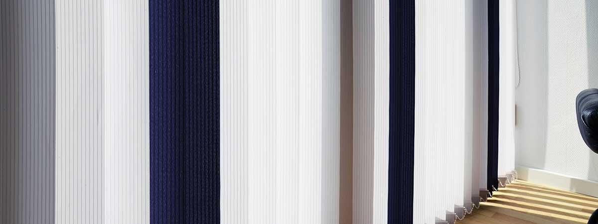 Lamellenvorhang mit Farbverlauf